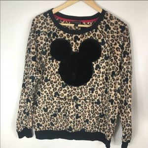 Disney Mickey Leopard Sweatshirt